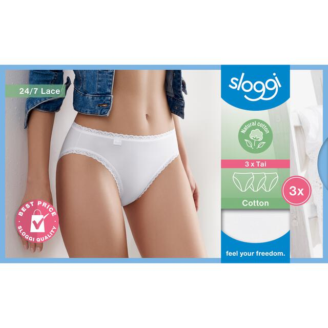 3er-Pack Sloggi 24/7 Cotton Lace Tai